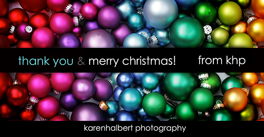 web thank you happy holidays balls from khp